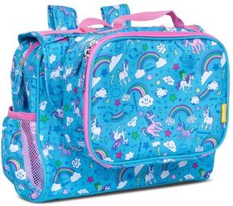 """Bixbee 9.5"""" Kid' Imagination Backpack & Lunchbox et - Unicorn Rainbow"""
