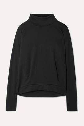 Alo Yoga Clarity Rib-trimmed Jersey Turtleneck Sweatshirt