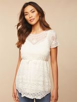 Lace Maternity Shirt