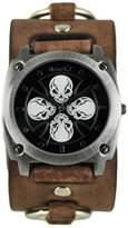 Nemesis Men's 932BFRBK Skull Iron Cross Series Analog Display Japanese Quartz Watch