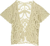 Anna Sui Crocheted cotton cardigan