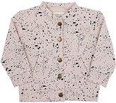 Little Indians Paint-Splatter-Print Stretch-Cotton Baseball Jacket