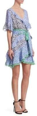 Tanya Taylor Ruffle Silk Wrap-Dress