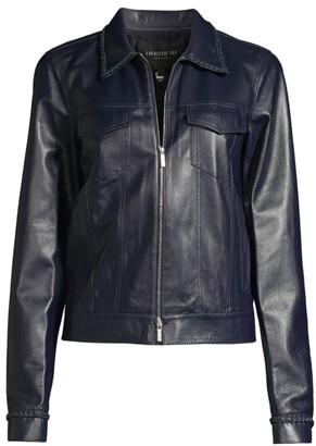 Lafayette 148 New York Destiny Leather Moto Jacket