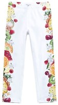 MonnaLisa White Fruit Print Leggings
