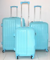 Ice CANADA 3-Piece made from ABS - Large, Medium and Carry On Suitcase with Wheels, Lock, and Telescopic Handle