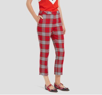 Mulberry Nola Trousers Scarlet Summer Tartan