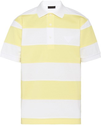Prada Striped Short-Sleeve Polo Shirt