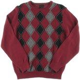 Geoffrey Beene Wine Mens Argyle Crewneck Sweater @079 Red M
