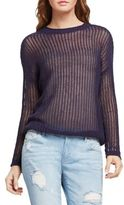 BCBGeneration Open-Knit Crewneck Sweater