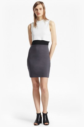 French Connection Lula Jersey Stretch Double Layer Dress