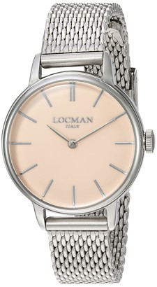 Locman Analog Quartz Watch with Stainless Steel Strap Clear 13 (Model: 4580579743028)
