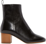 Isabel Marant Black Leather Deyis Ankle Boots