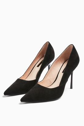 Topshop Womens Georgia Black Pointed Court Shoes - Black