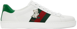 Gucci White Ace Low-Top Sneakers