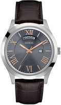 GUESS Men's Metropolitan Brown Leather Strap Watch 44mm U0792G7