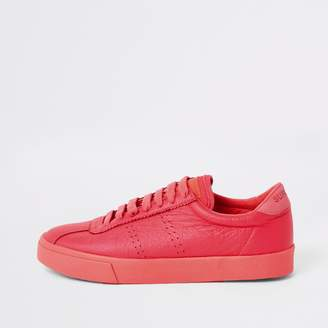 River Island Womens Superga bright Orange lace-up runner trainers