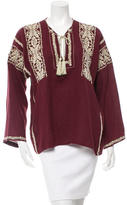 Etoile Isabel Marant Long Sleeve Embroidered Top