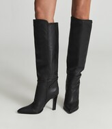 Thumbnail for your product : Reiss Ada - Knee-high Leather Boots in Black