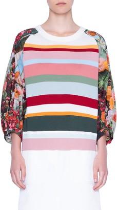 Akris Punto Perforated Yoke Wool Sweater