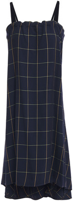 McQ Asymmetric Checked Crepe Dress