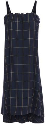 McQ Asymmetric Checked Crepe Dress