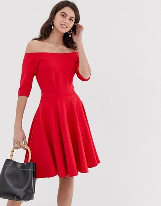 Closet London Closet bardot skater dress