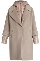 Herno Soft Brush showerproof wool-blend coat