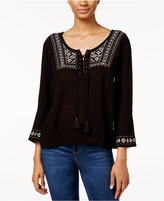 American Rag Embroidered Peasant Top, Only at Macy's