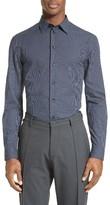 Armani Collezioni Men's Trim Fit Graph Print Sport Shirt