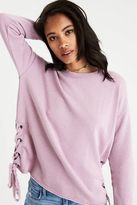 American Eagle Outfitters AE Side-Lace Sweatshirt