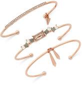 Vince Camuto Gold-Tone Glass Shard Cuff Bracelet