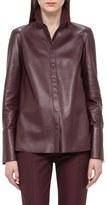 Akris Nappa Leather Shirt