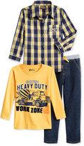 Nannette Little Boys' Woven Shirt, T-Shirt and Pants Set