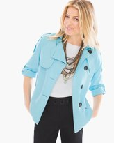 Chico's Cropped Linen Trench