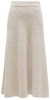 Gabriela Hearst Pablo Cashmere-blend Boucle A-line Skirt - Womens - Beige