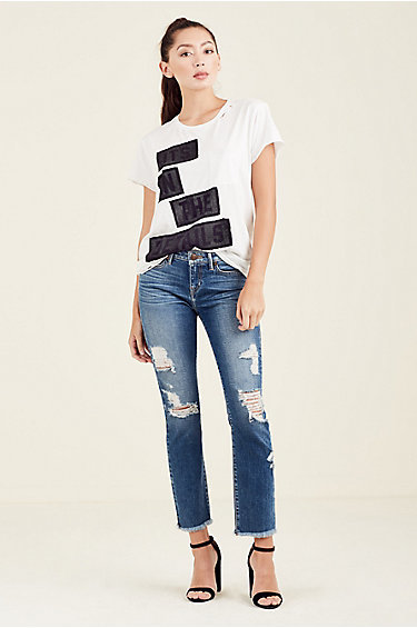 True Religion In The Details Womens Tee