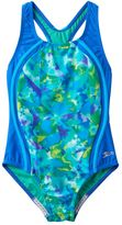 Speedo Girls 7-16 Tie-Dyed Sky Sport One-Piece Swimsuit
