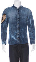 Balmain Embroidered Denim Shirt