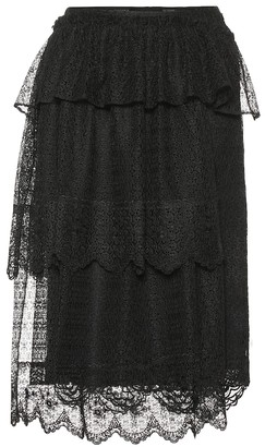 Simone Rocha Tiered lace midi skirt