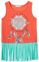 Self Esteem Girls 7-16 Fringe Graphic Tank Top