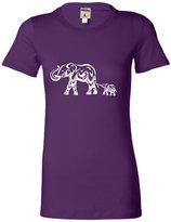 Go All Out Screenprinting Juniors Abstract Elephant T-Shirt