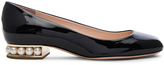 Nicholas Kirkwood Patent Leather Casati Pearl Ballerina Flats
