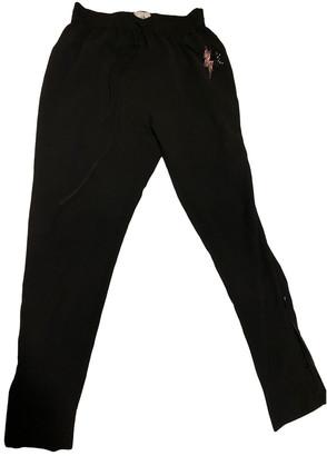 Thomas Wylde Black Cotton Trousers for Women