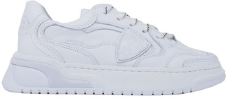 Philippe Model Womans White Leather Sneakers
