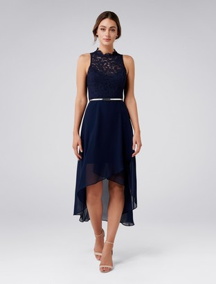 Ever New Peta High-Neck Lace Two-in-One Dress