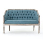 Ophelia Fincham Loveseat & Co. Upholstery Color: Blue