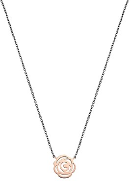 Tous 18K Rose Gold-Plated Sterling Silver Rosa de Abril Choker Necklace, 16.5