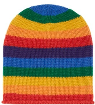 The Elder Statesman Lil Lookout Striped Cashmere Beanie Hat - Multi