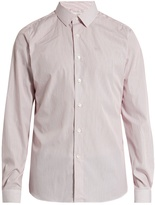 Valentino Button-cuff pinstriped cotton-poplin shirt